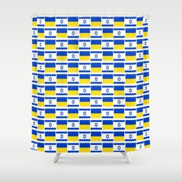 Mix of flag : Israel and Ukraine Shower Curtain