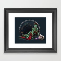 Aren't you a little brainless for a stormtrooper? (Zombie Slaved Princess Leia) Framed Art Print