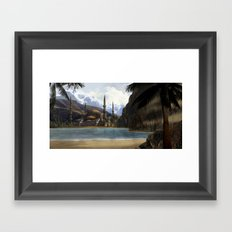 Hidden in the Mountains Framed Art Print