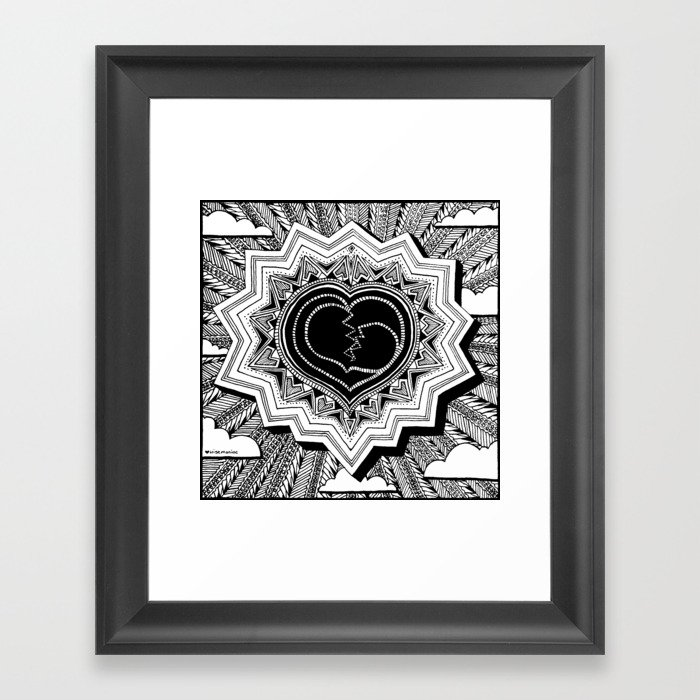 Heartshine Framed Art Print