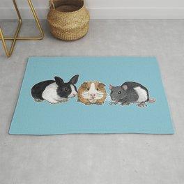 Dwarf rabbit, guinea pig and rat Rug
