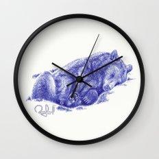 Lazy Bear Wall Clock