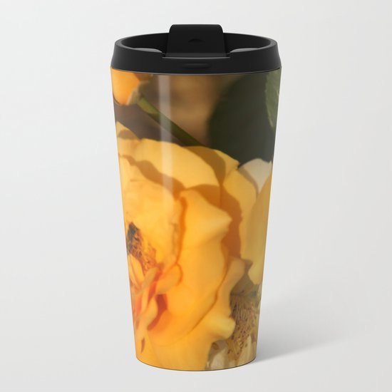 Rose with a guest Metal Travel Mug