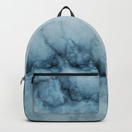 Blue marble abstraction Backpack