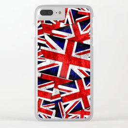 Union Jack British England UK Flag Clear iPhone Case