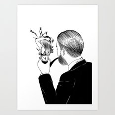 Man In Love Art Print