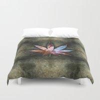 marijuana Duvet Covers featuring Marijuana Leaf - Design 2 by Spooky Dooky