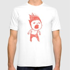 Angry Guy MEDIUM Mens Fitted Tee White