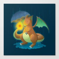charizard Canvas Prints featuring Charizard by Jeanette Aga