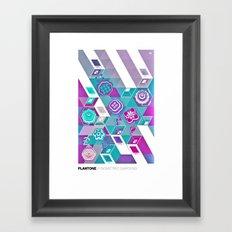 PLANTONE // Isometric Gardens Framed Art Print