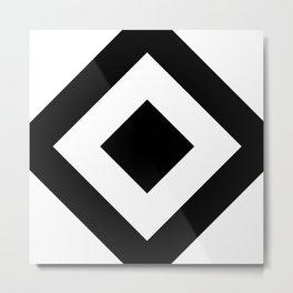 black and white 7 Metal Print
