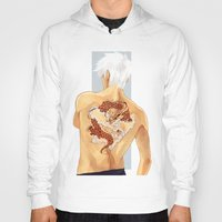 kakashi Hoodies featuring Red Dragon by xtcetera