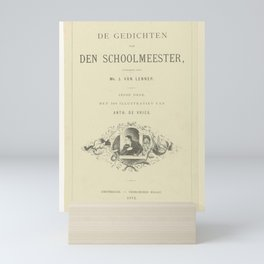 Title page for  The Schoolmaster  The Poems of the Schoolmaster  1872  Charles Comte  after Anthony Mini Art Print