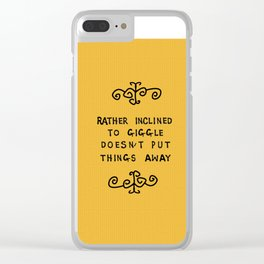rather inclined to giggle Clear iPhone Case
