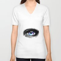 universe V-neck T-shirts featuring universe by Ryky