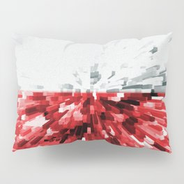 Extruded flag of Poland Pillow Sham