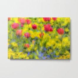 Pastel Summer Flowers  Metal Print