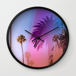 Sunshine and Palm Trees Wall Clock