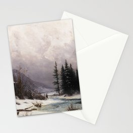 Gabriel Loppé - Winter in the Meiringen Valley 1866 Stationery Cards