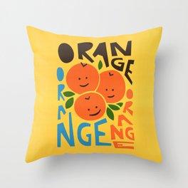 Orange A Tang Throw Pillow