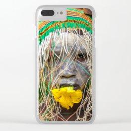 Suri Flower Clear iPhone Case