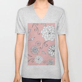 Sweet daisies on bubble gum pink Unisex V-Neck