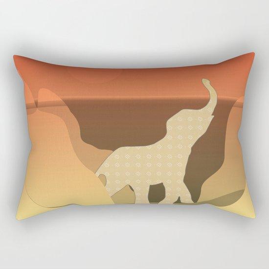 Underwater Elephant Scene Design Rectangular Pillow