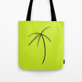 Palm Tree Illustration Neon Green Tote Bag