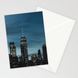 New York City by night Stationery Cards