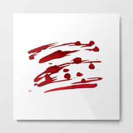Blood paint splatters Metal Print