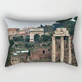 Monuments Roman Forum Colosseum of Rome Temple Italy Rectangular Pillow