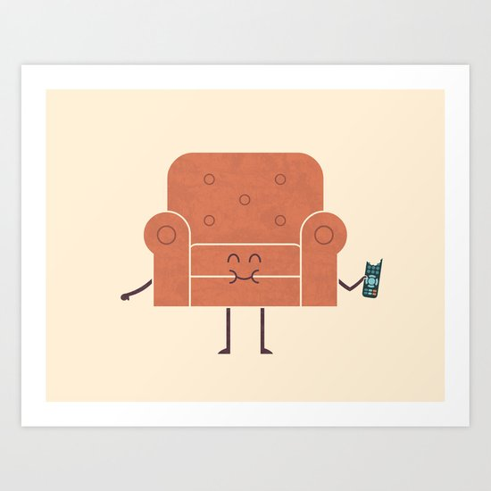 Couch Snack Art Print