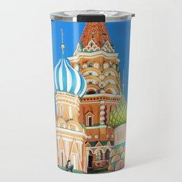 Colorful Moscow church Travel Mug