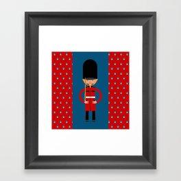 British Bearskin Cap Guard Framed Art Print