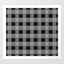 Abstract Patterned Glowing Cross Art Print