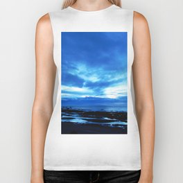 Arm from Above Plays with the Sunset Biker Tank