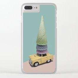 Driving Cones Clear iPhone Case