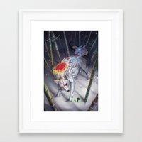 okami Framed Art Prints featuring Okami by Caroline Roy