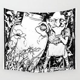 When Leprechauns Go Bad A Surly Drunken Clurichaun Wall Tapestry