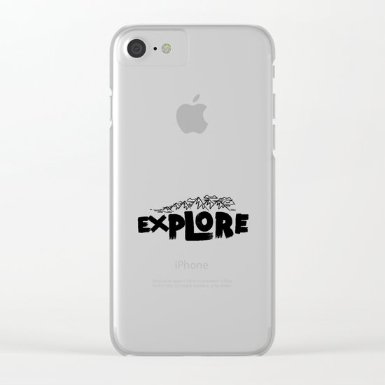 EXPLORE Clear iPhone Case