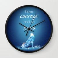 cinderella Wall Clocks featuring Cinderella by Syafickle