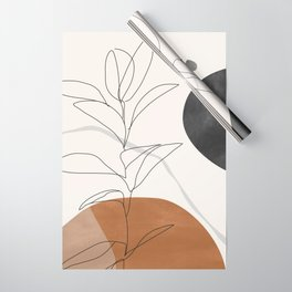 Abstract Art /Minimal Plant Wrapping Paper