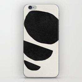Abstract black shapes art, Mid century modern art iPhone Skin