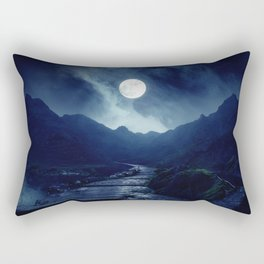 Walk to the Moon Rectangular Pillow