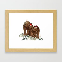 christmas bears Framed Art Print