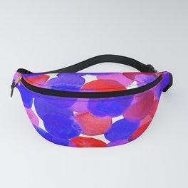 Watercolor Circles - Blue Red & Purple Palette Fanny Pack