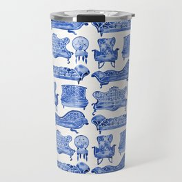 Victorian Lounge – Navy Palette Travel Mug