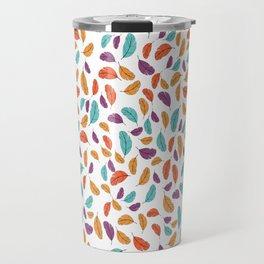 Graphic illustration of stylized and colorful birds Travel Mug