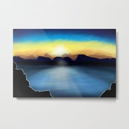 Under A Painted Sky Metal Print