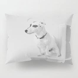 Puppy watching Pillow Sham
